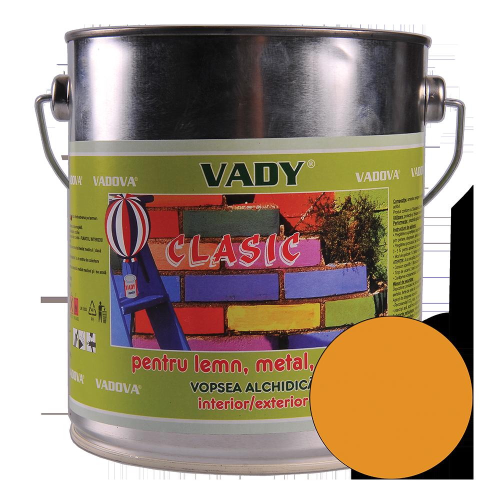 Vopsea alchidica Vady clasic, pentru lemn/metal/zidarie, interior/exterior, ocru, 2,5 l imagine MatHaus.ro