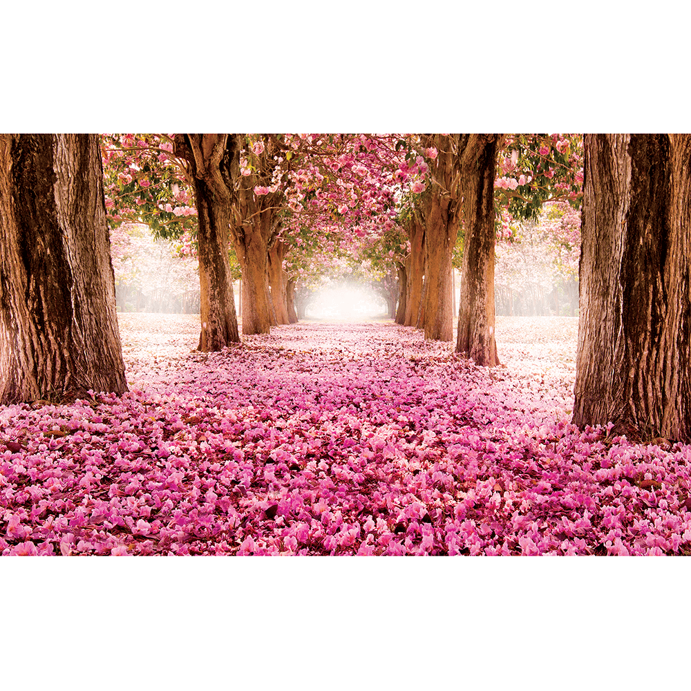 Fototapet duplex Alee cu flori, 368 x 254 cm