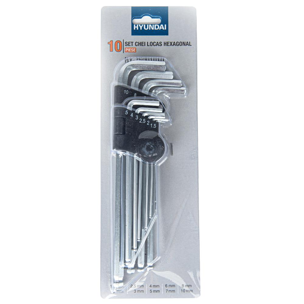 Trusa de chei imbus Hyundai HY-75001010, 10 piese imagine 2021 mathaus