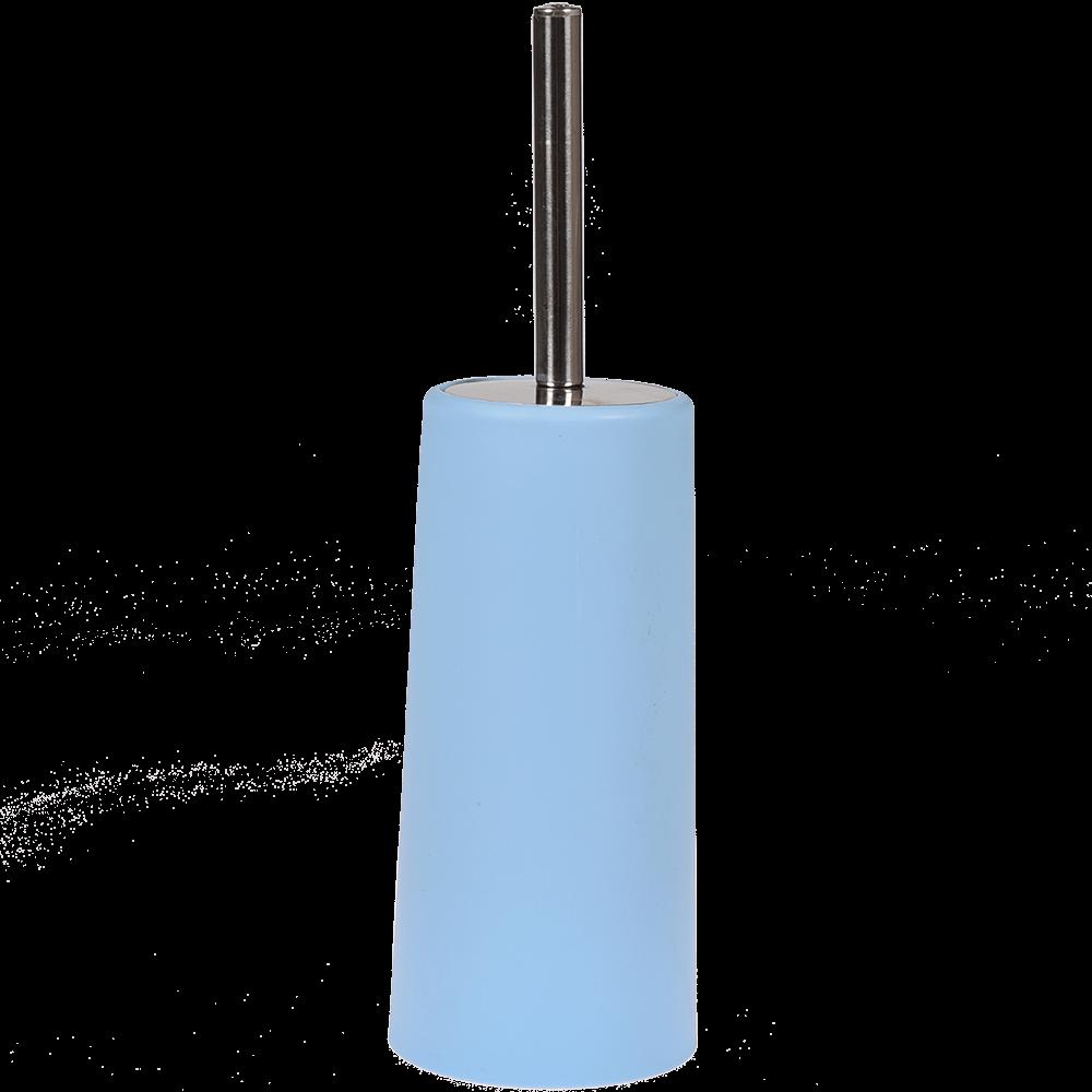 Perie WC Romtatay Slim, polipropilena/metal inoxidabil, bleu, 10 x 22 cm imagine 2021 mathaus