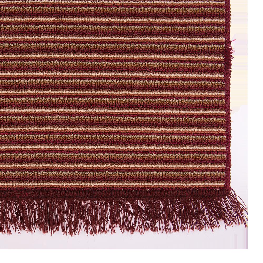 Covor bucatarie Niagara, 100% polipropilena, model cu dungi rosu-bej, 65 x 135 cm mathaus 2021