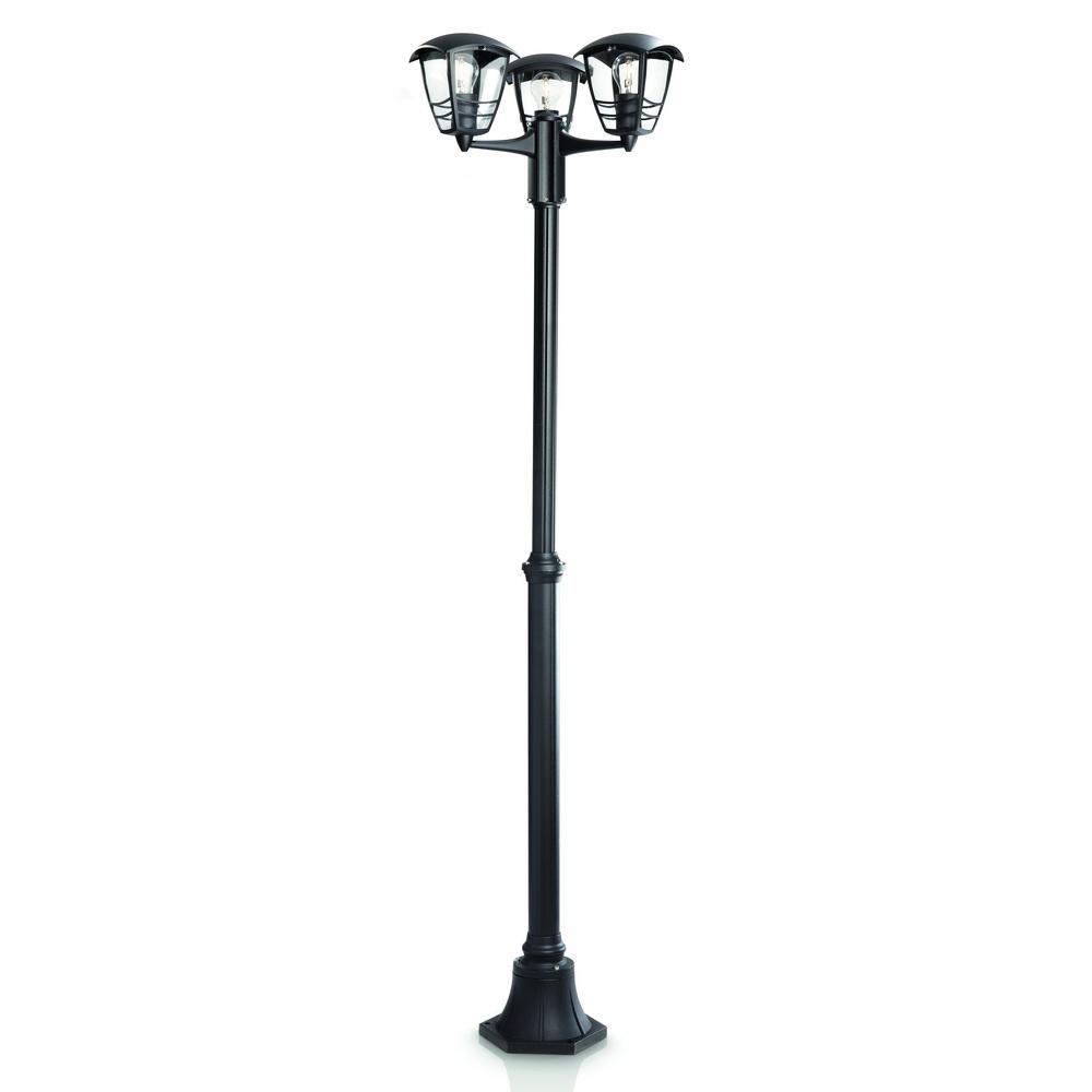 Stalp de iluminat ornamental Philips, exterior, MyGarden - CREEK, 3xE27, IP44, max 60W