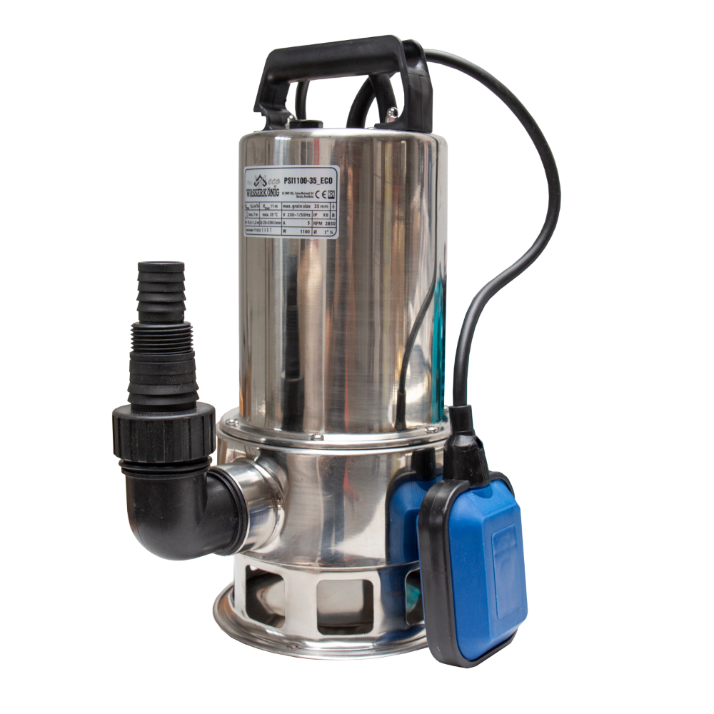 Pompa submersibila Technik PSI1100-35, 1100 W, 250 l/min, 7,5 kg imagine 2021 mathaus