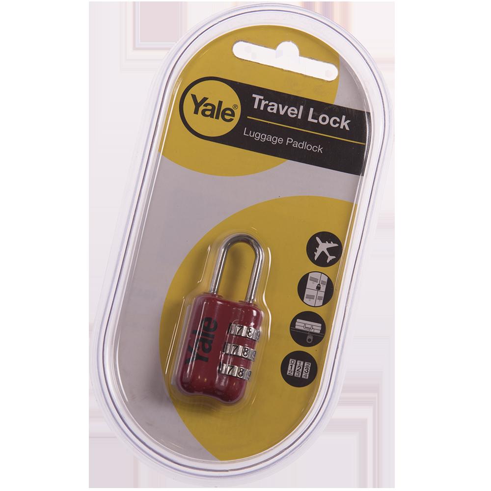 Lacat din zinc, Yale Travel lock, l 23mm, cu cifru imagine MatHaus