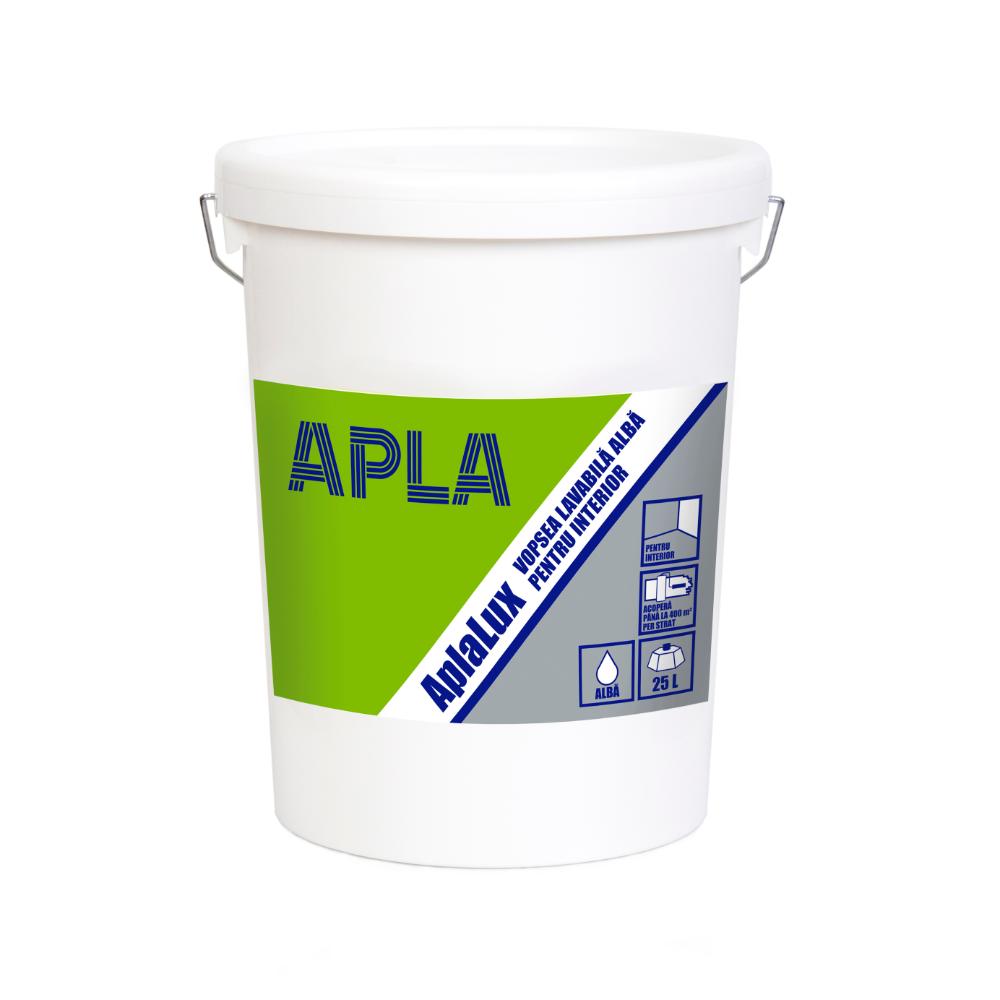 Vopsea lavabila interior, Aplalux Superlavabil, alb, 25 L