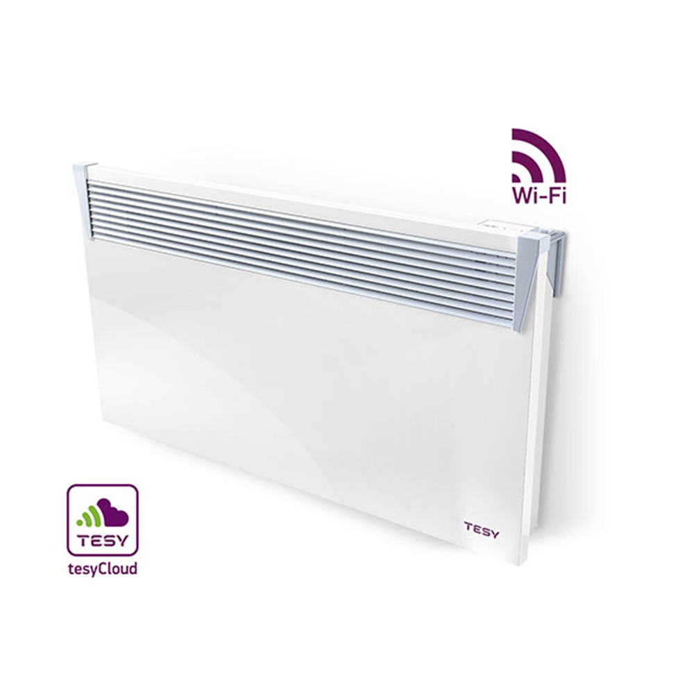 Convector electric de perete Tesy Cn03 150 Eis Cloud W, 1500 W, 63 x 9 x 45 cm,  display led, wi-fi control