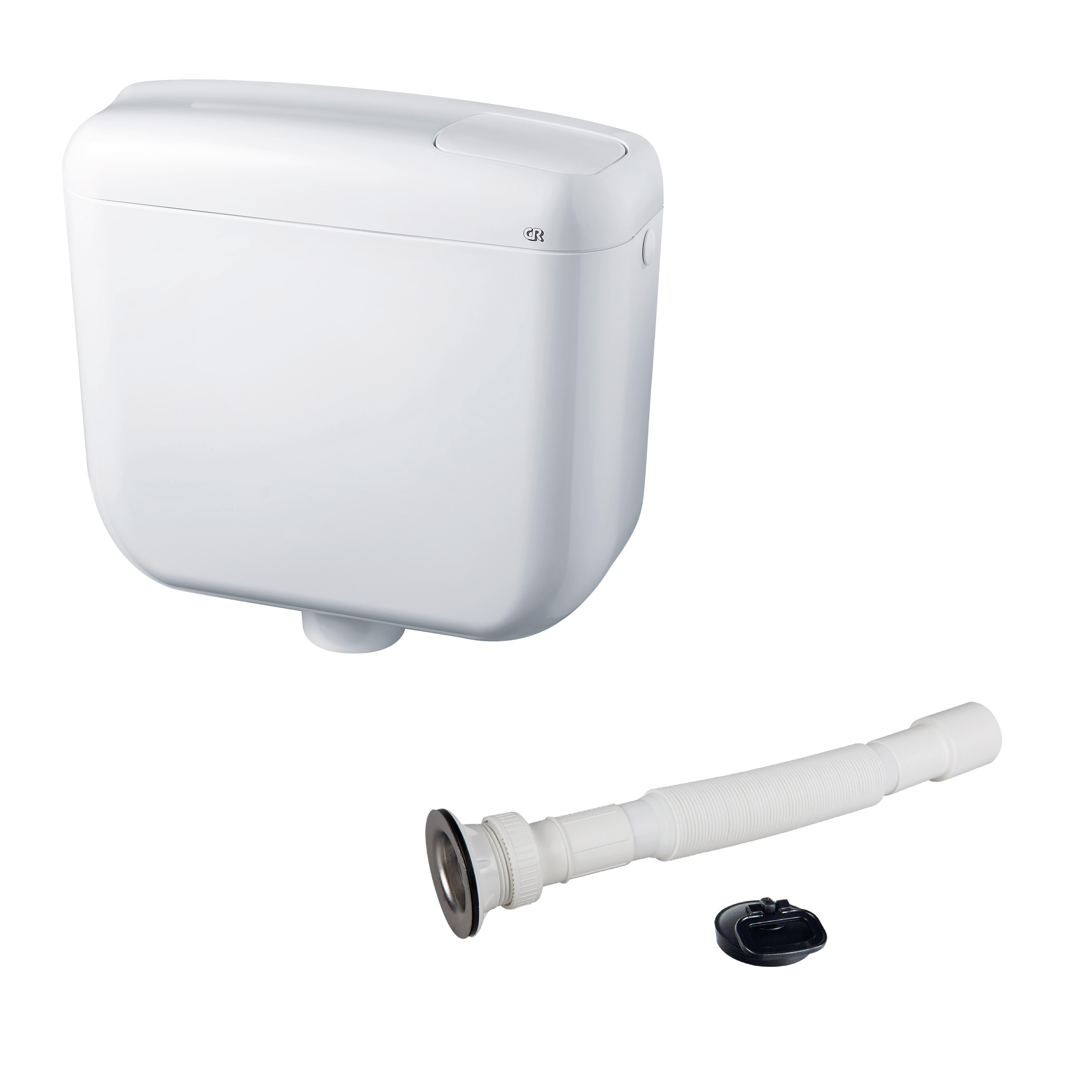 Rezervor WC Compact 1, ABS, alb, max. 7.5l imagine MatHaus.ro
