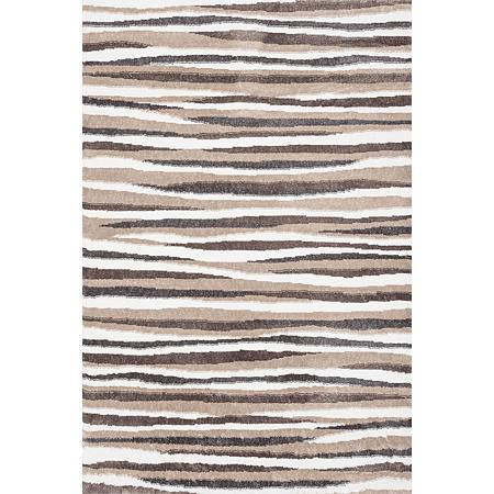 Covor modern Sintelon Creative 04EBE, poliester, model dungi alb, bej, maro, 190 x 290 cm