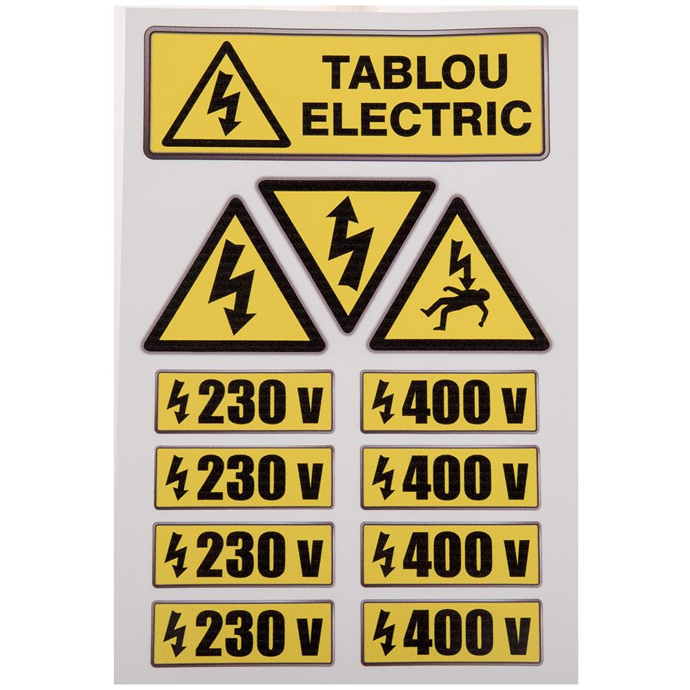 Set indicator de avertizare pentru tablouri electrice, PVC, 20 x 30 cm mathaus 2021