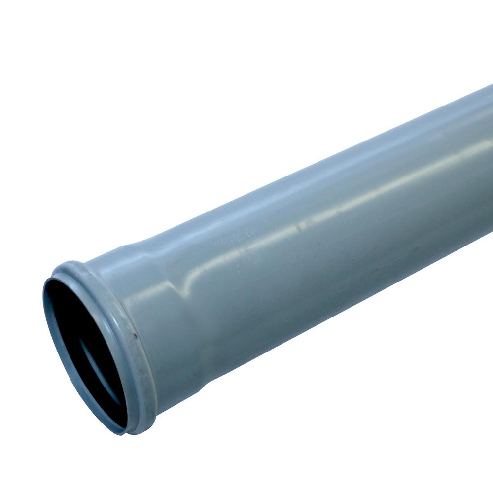 Tub Valplast, PVC, gri, diametru 110 mm, lungime 2 m
