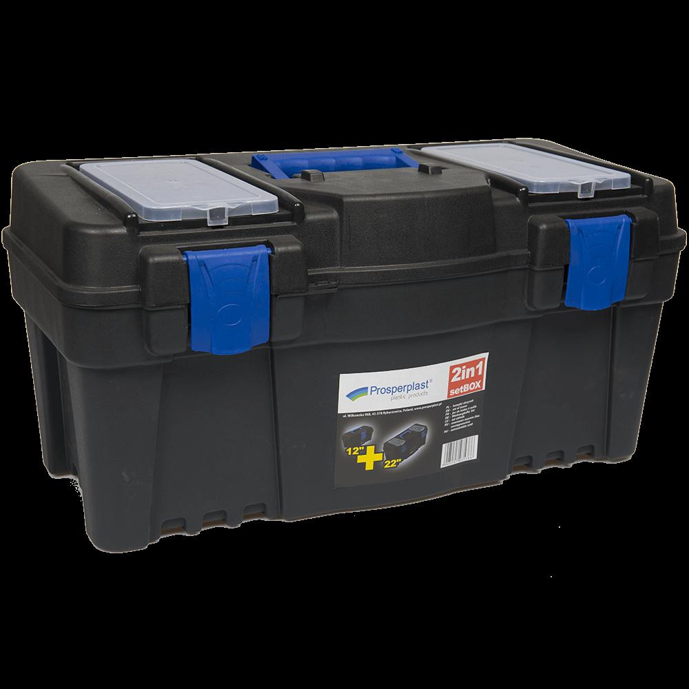 Set 2 cutii plastic organizator scule si unelte