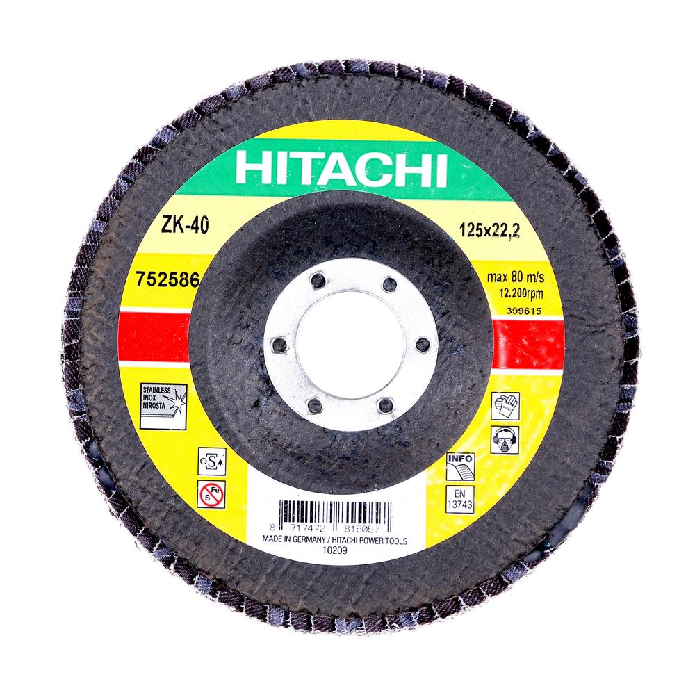 Disc Flapsuri Pentru Slefuit Hitachi 752586 125 X 22,2 X 9 mm mathaus 2021