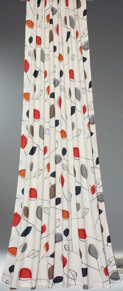 Draperie Bea 2263-05, 100% poliester, multicolor, 140 x 245 cm imagine MatHaus