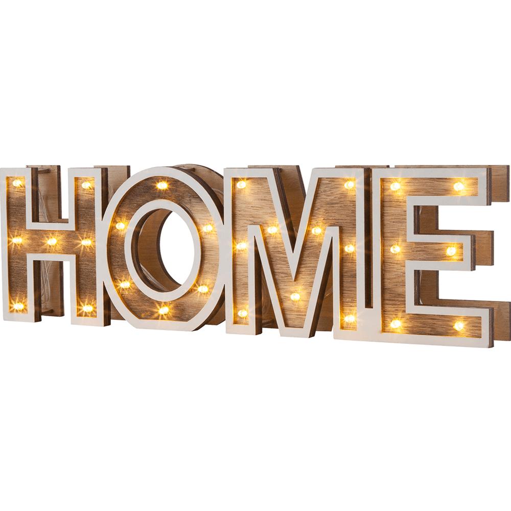 Lampa decor HOME, lemn, 28 LED, 380 x 110 mm imagine 2021 mathaus