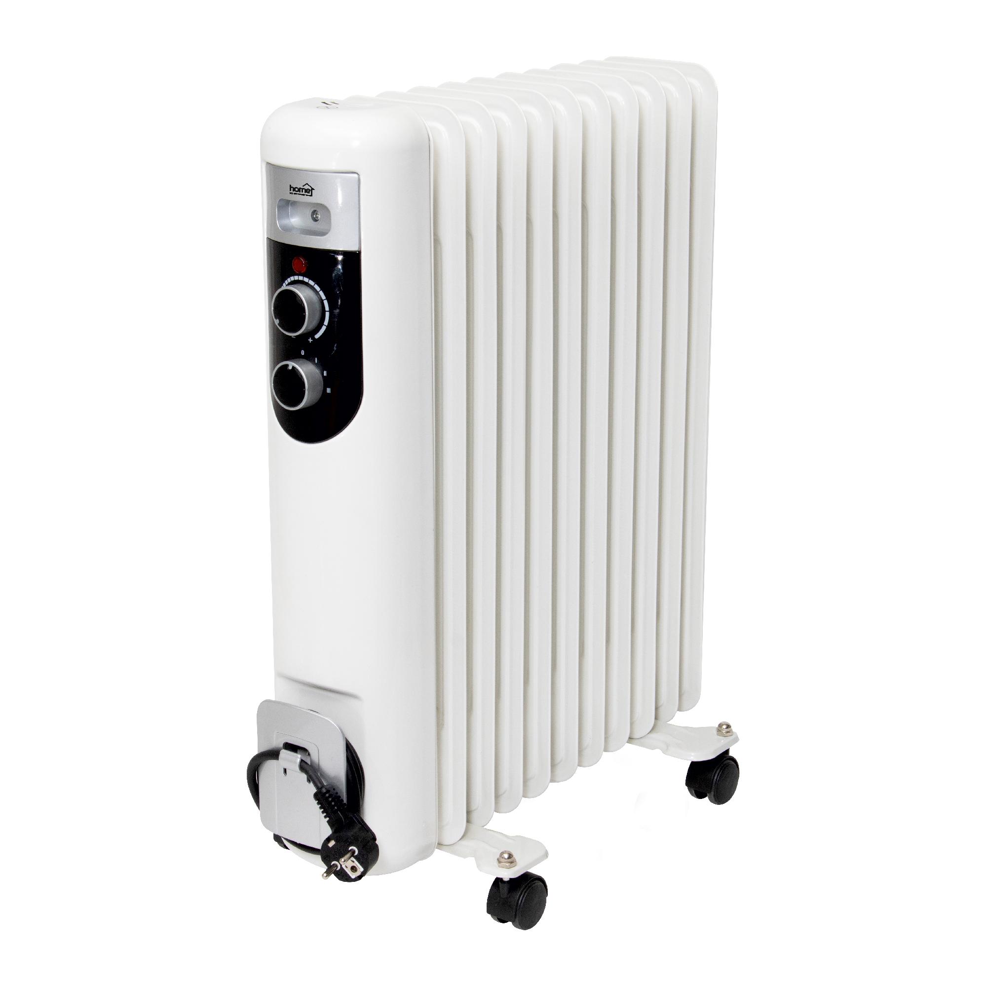 Calorifer electric cu ulei Home by somogyi FKOS 11M, 2 panouri convectoare, 2000W, aluminiu, alb, 60 x 51 cm imagine 2021 mathaus