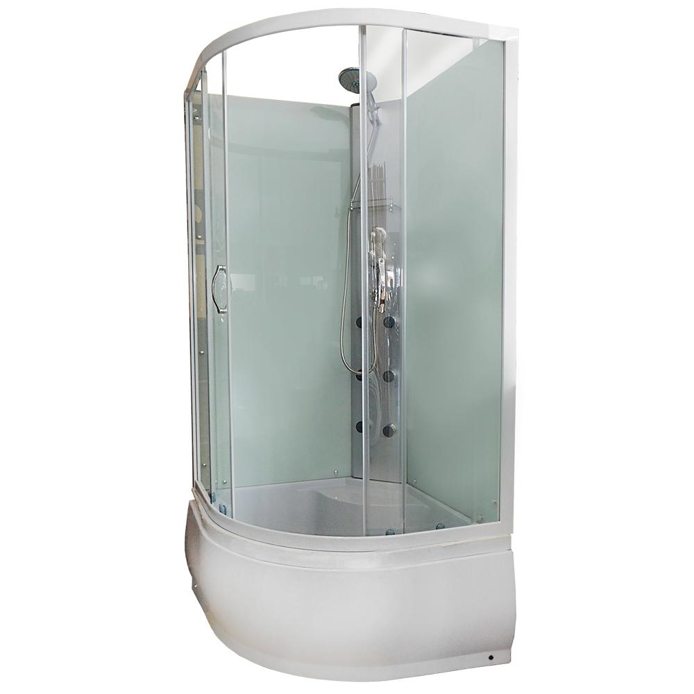 Cabina dus inchisa Regata Sol, ABS, sticla 0.4 cm, semirotunda, 90 x 90 x 215 cm imagine MatHaus