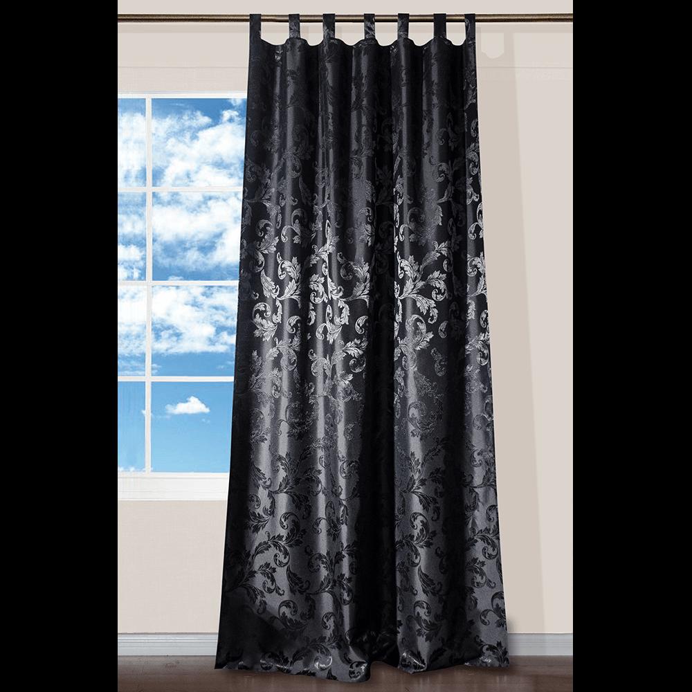 Draperie Lyon, 100% poliester, negru 99, 140 x 245 cm