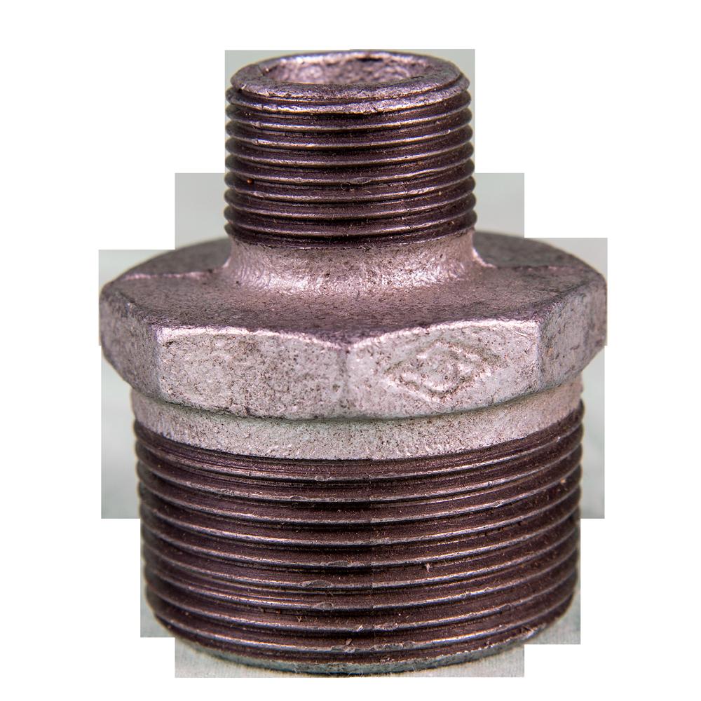 Niplu redus, fonta, zincat, 1 1/2 inch x 3/4 inch imagine MatHaus