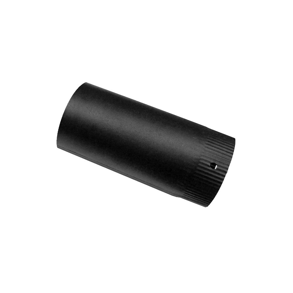 Burlan fum, negru, D 120 mm, L 0,5 m imagine MatHaus.ro