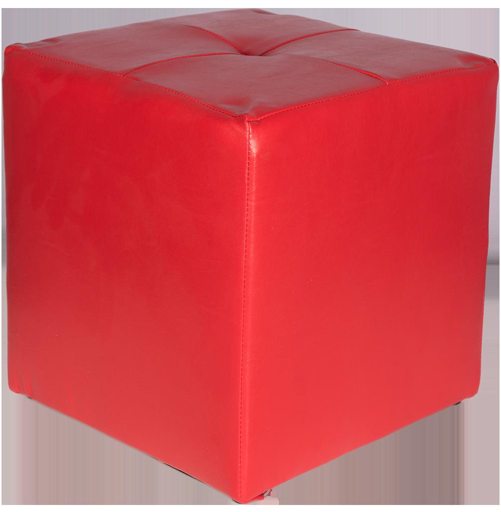 Taburet Cool tapiterie imitatie de piele, rosu IP21900, 38 cm inaltime