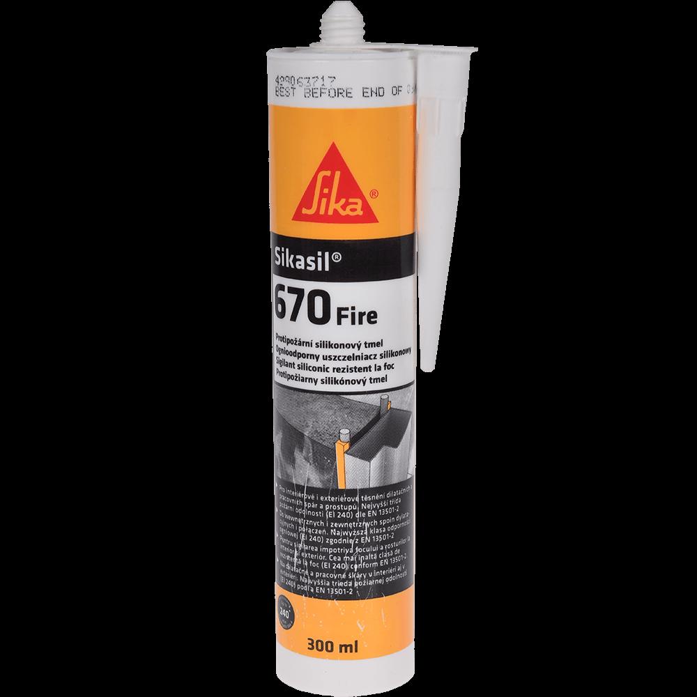 Sigilant pentru rosturi, alb, Sikasil®-670 Fire, interior/exterior, 300 ml imagine MatHaus