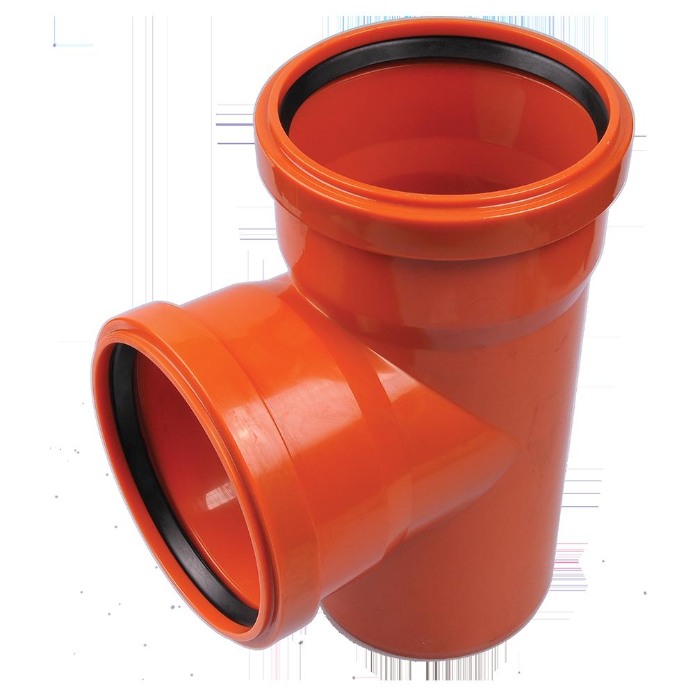 Ramificatie pentru canalizare exterioara Valplast, PVC, 110 x 110 mm, 87 grade