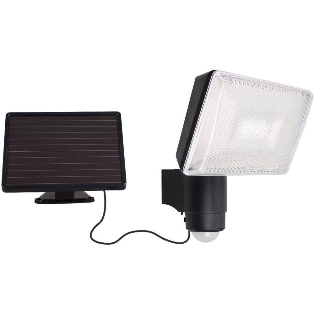 Proiector LED, panou solar, senzor miscare, 6 W, lumina alba rece imagine 2021 mathaus