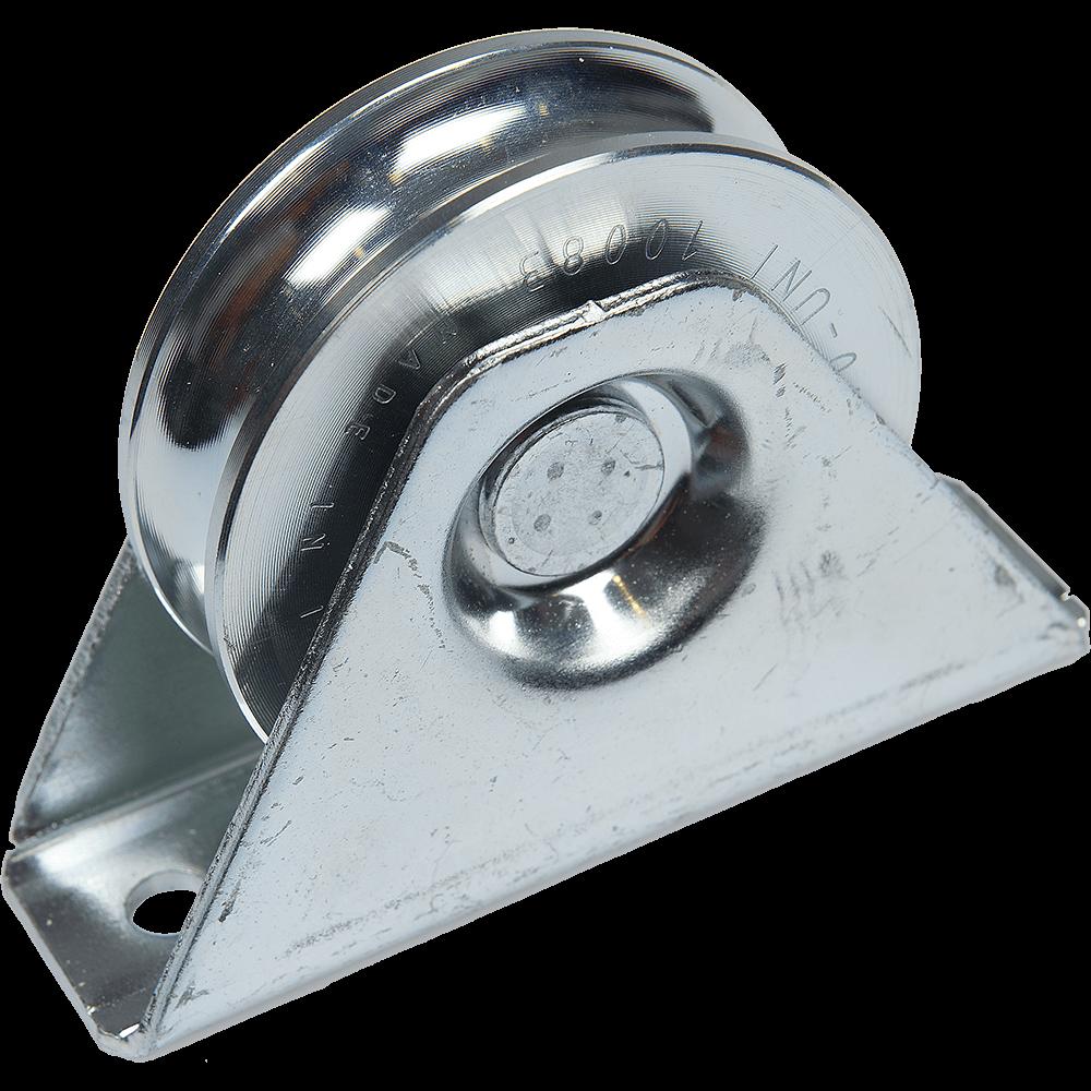 Rola zincata aplicata, profil semicerc, D: 78 mm, rulment: 7,5 mm
