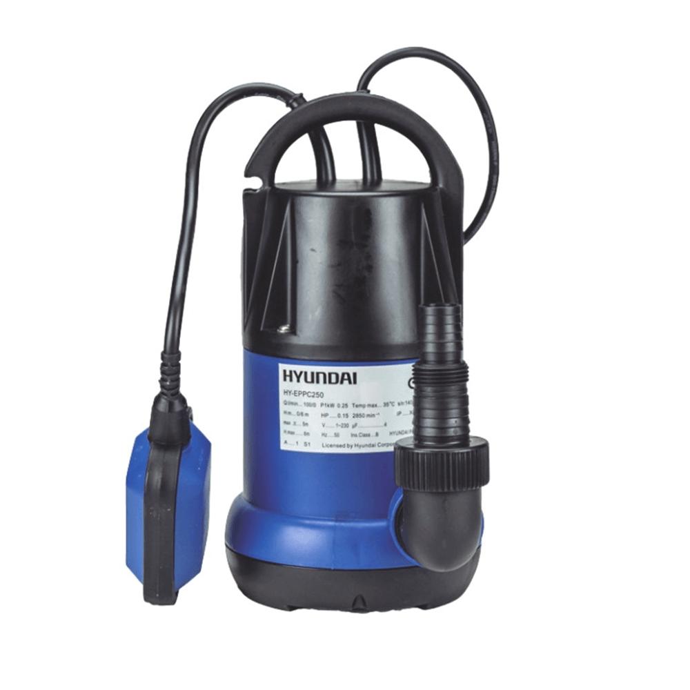 Pompa submersibila pentru ape curate, Hyundai HY-EPPC250, 230 V, 6000 l/h, 250 W, cu plutitor imagine MatHaus.ro