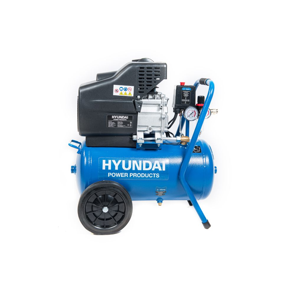 Compresor de aer Hyundai HY-AC2402 , monofazat, 1600 W, 2850 rpm, 8 bar, 24 l imagine 2021 mathaus