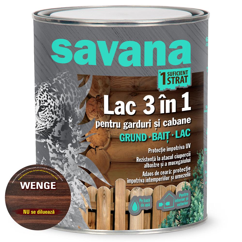Lac 3 in 1 Savana garduri si cabane, wenge, pe baza de apa, interior / exterior, 0,75 l mathaus 2021