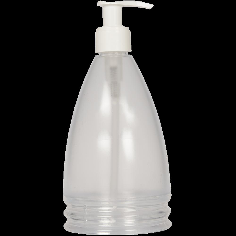 Dozator sapun lichid Aqua Glace, plastic, transparent, 17,5 x 8 x 8 cm