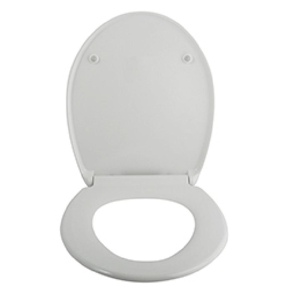 Capac pentru WC Romtatay Selecta, duroplast, sistem easy close, alb, 46 x 37,5 cm
