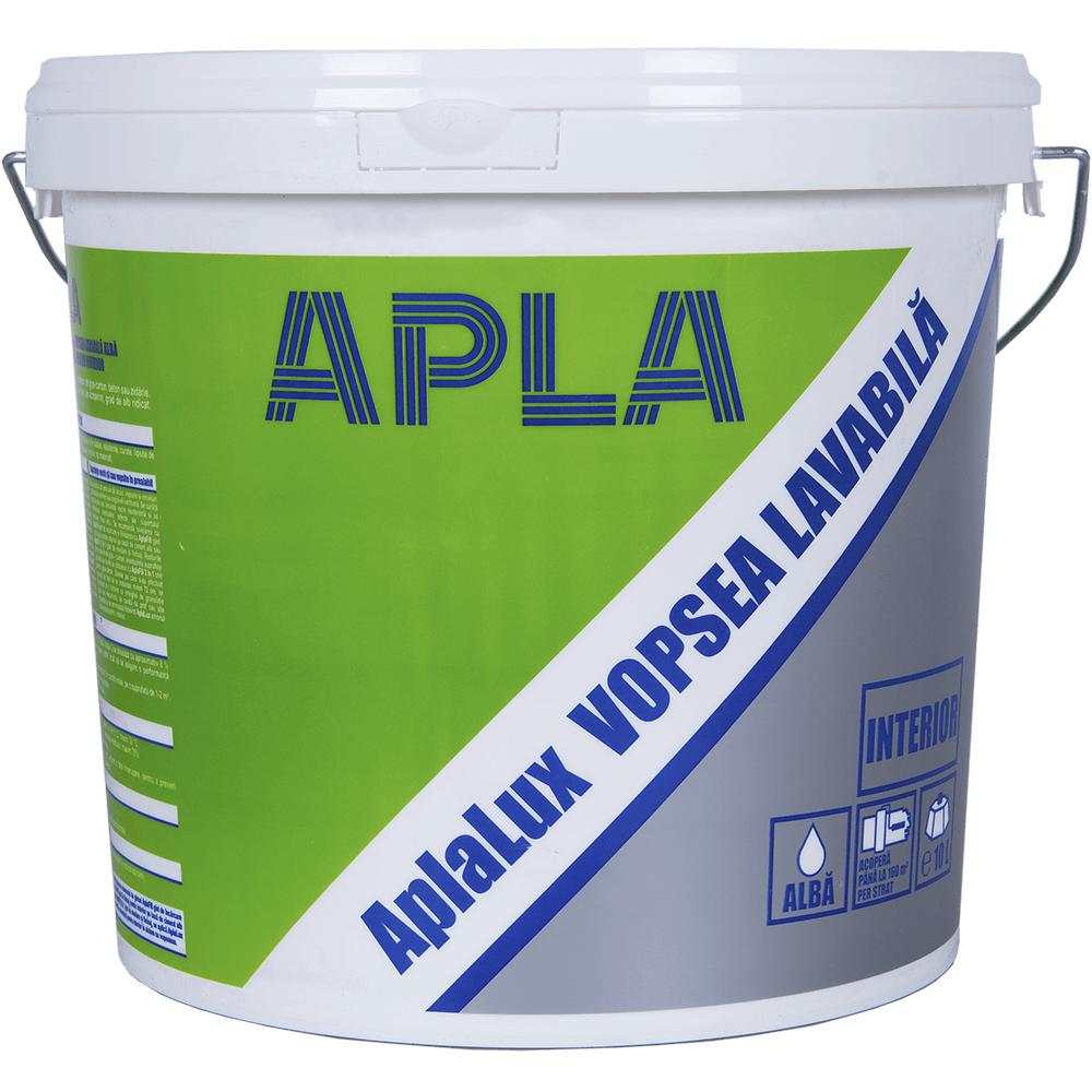Vopsea lavabila pentru interior, Aplalux, alba, 10L imagine 2021 mathaus