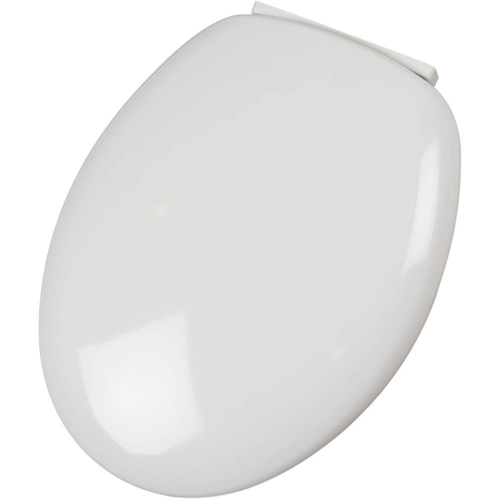 Capac Wc Termodur declipsabil, antibacterian, duroplast, alb, 43-44,2 x 38 cm