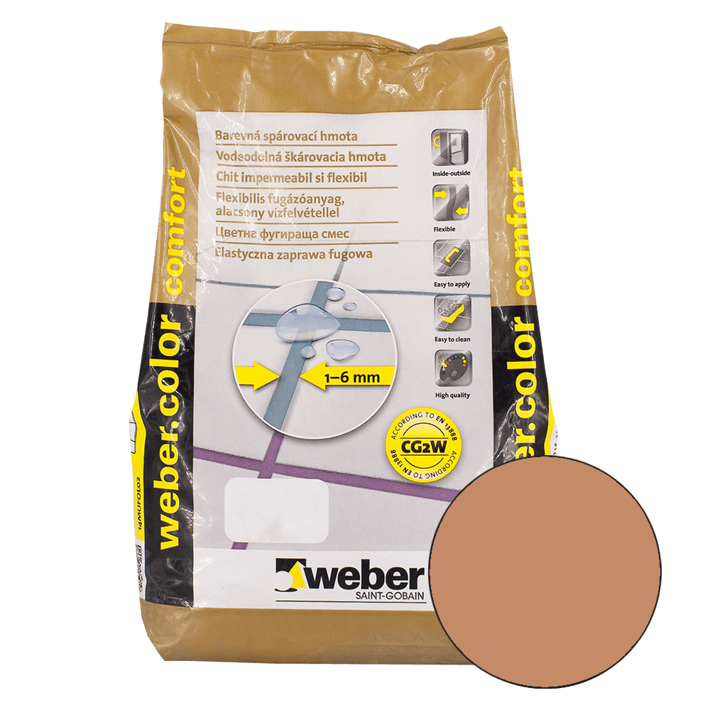 Chit de rosturi Weber Color Comfort, chest nut, 2 kg imagine 2021 mathaus