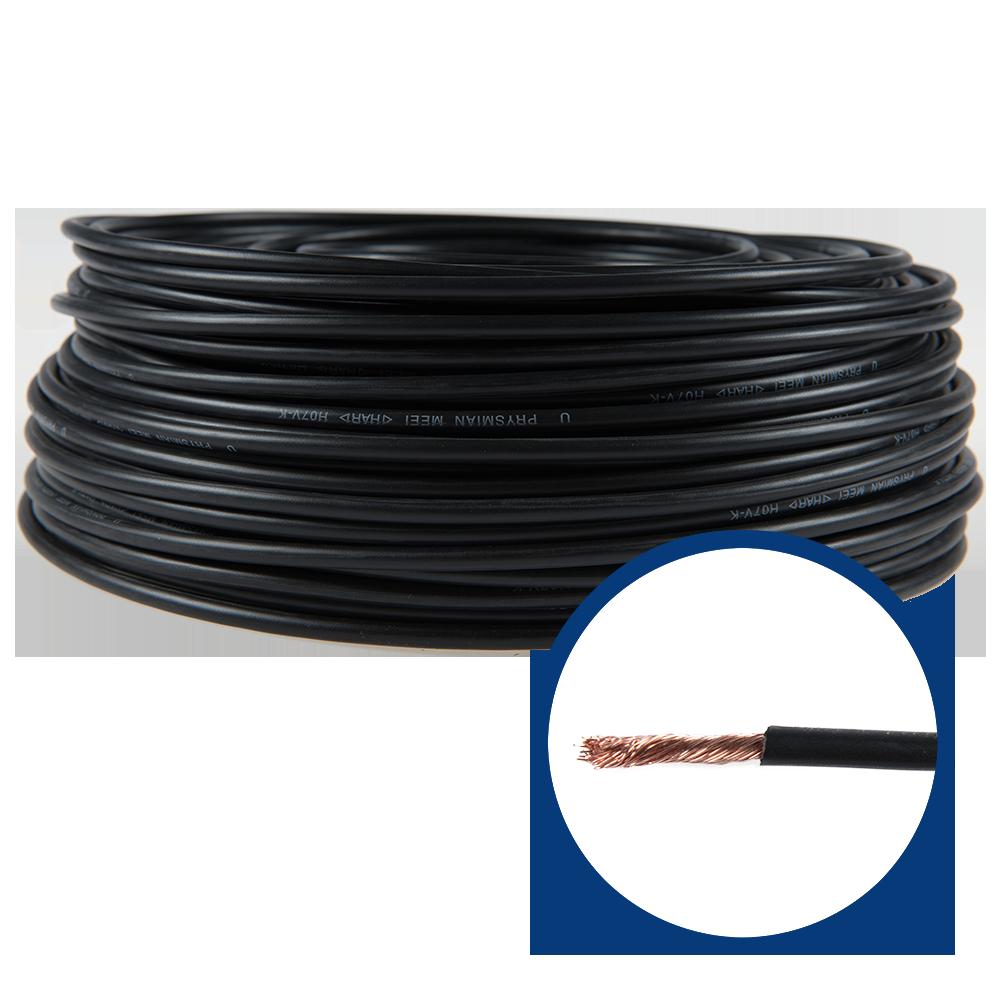 Cablu electric MYF (H05V-K) 6 mmp, izolatie PVC, negru imagine 2021 mathaus