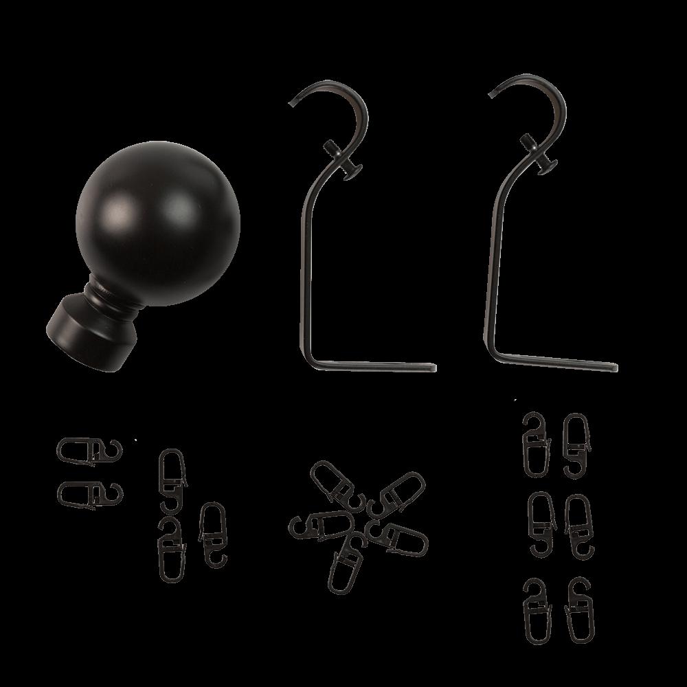 Kit galerie metalica simpla, negru, D19, 200 cm mathaus 2021