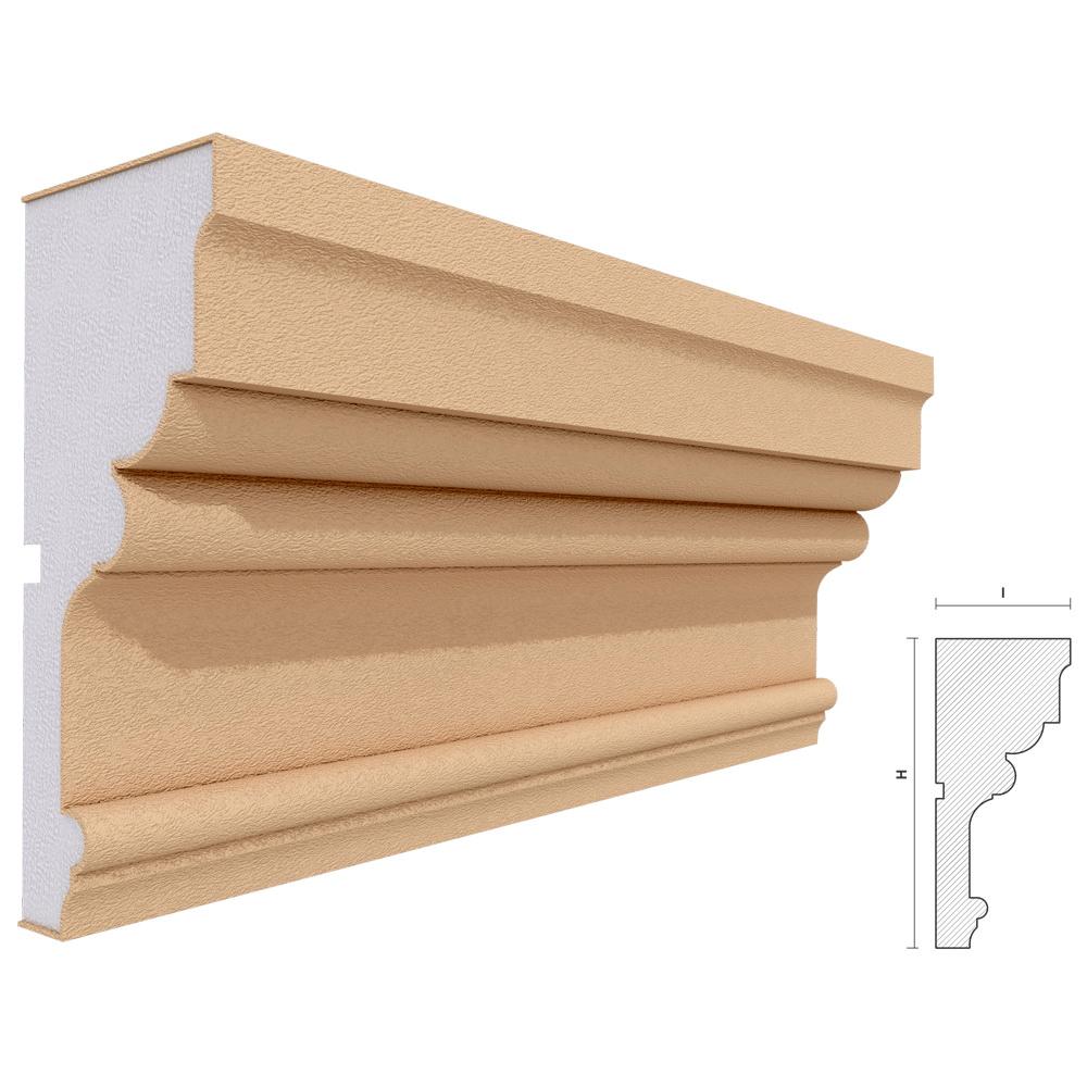 Cornisa decorativa pentru fatada, polistiren EPS + rasina, 200 x 87 x 2000 mm, crem mathaus 2021