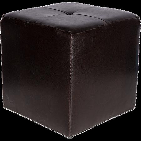 Taburet Cool tapiterie imitatie de piele, negru IP21901, 36 x 36 x 38 cm