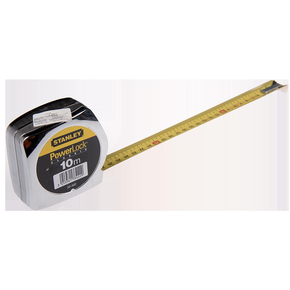 Ruleta PowerLock Stanley 1-33-442, 3 nituri, 10 m x 25 mm, cu clema de prindere la curea imagine 2021 mathaus