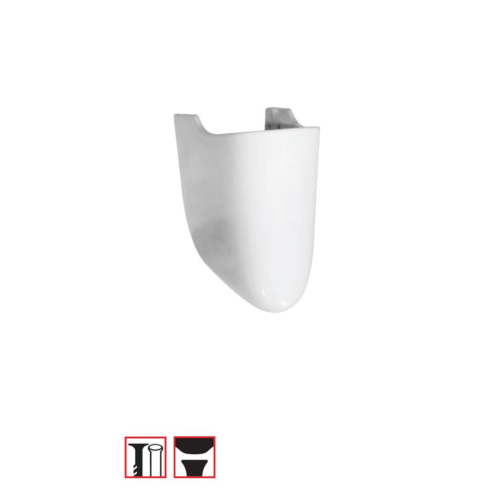 Semipiedestal Roca Uno, portelan, alb imagine 2021 mathaus