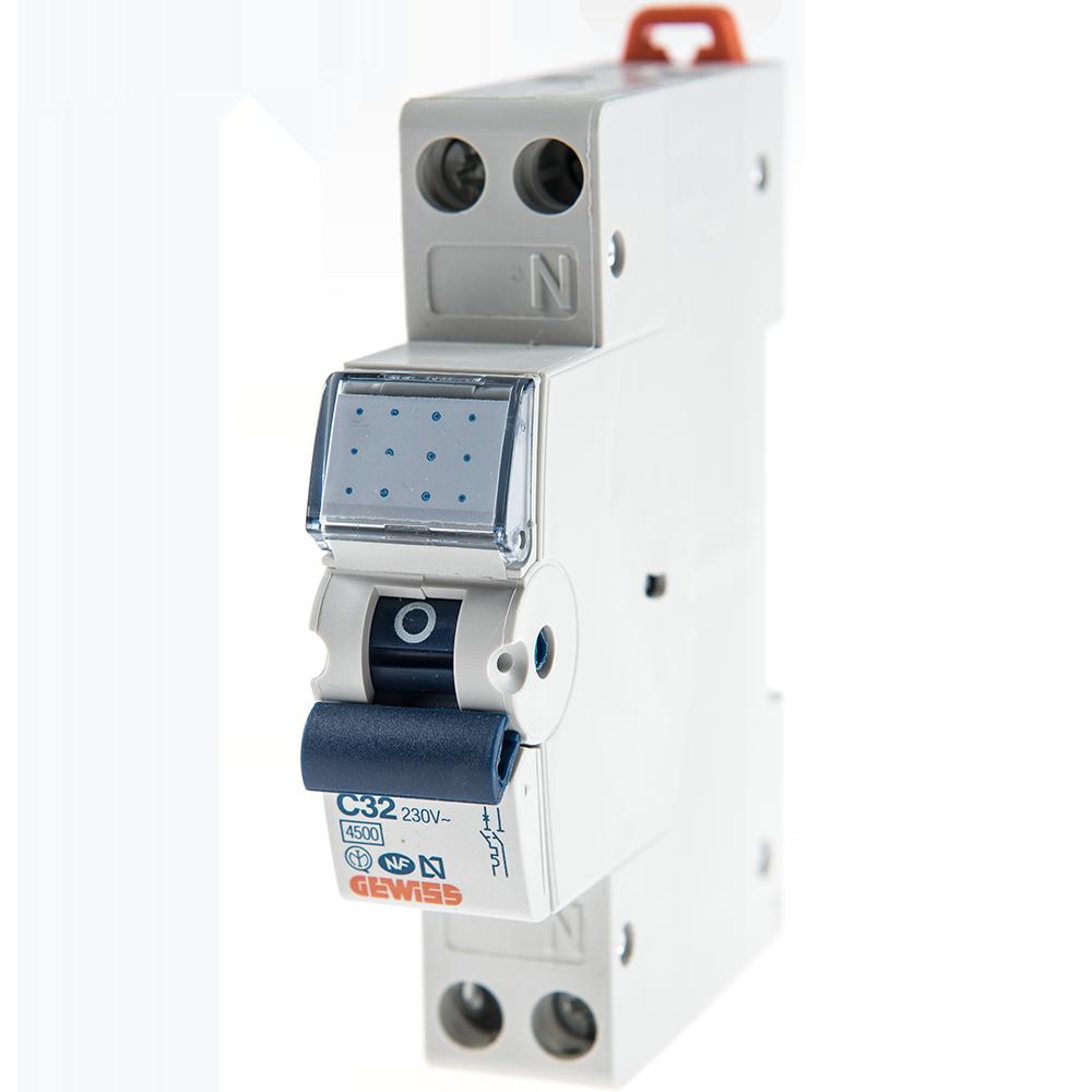 Disjunctor MCB 1P+N 4.5KA C32 GW90030 imagine MatHaus.ro