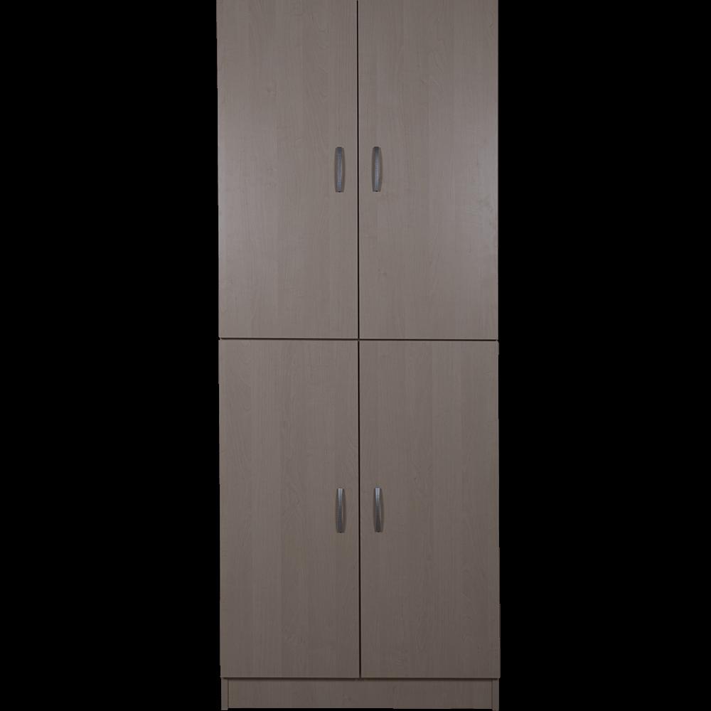 Dulap pentru organizarea si depozitarea hainelor, 80 x 28 x 202 cm, mesteacan