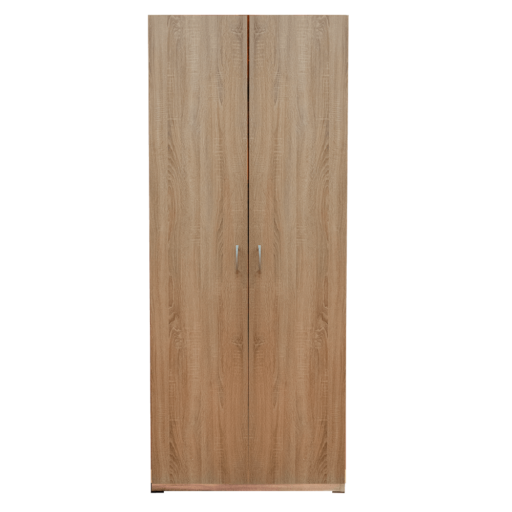 Dulap Eco stejar sonoma, 2 usi, cu bara si polita, 80 x 50 x 200 cm