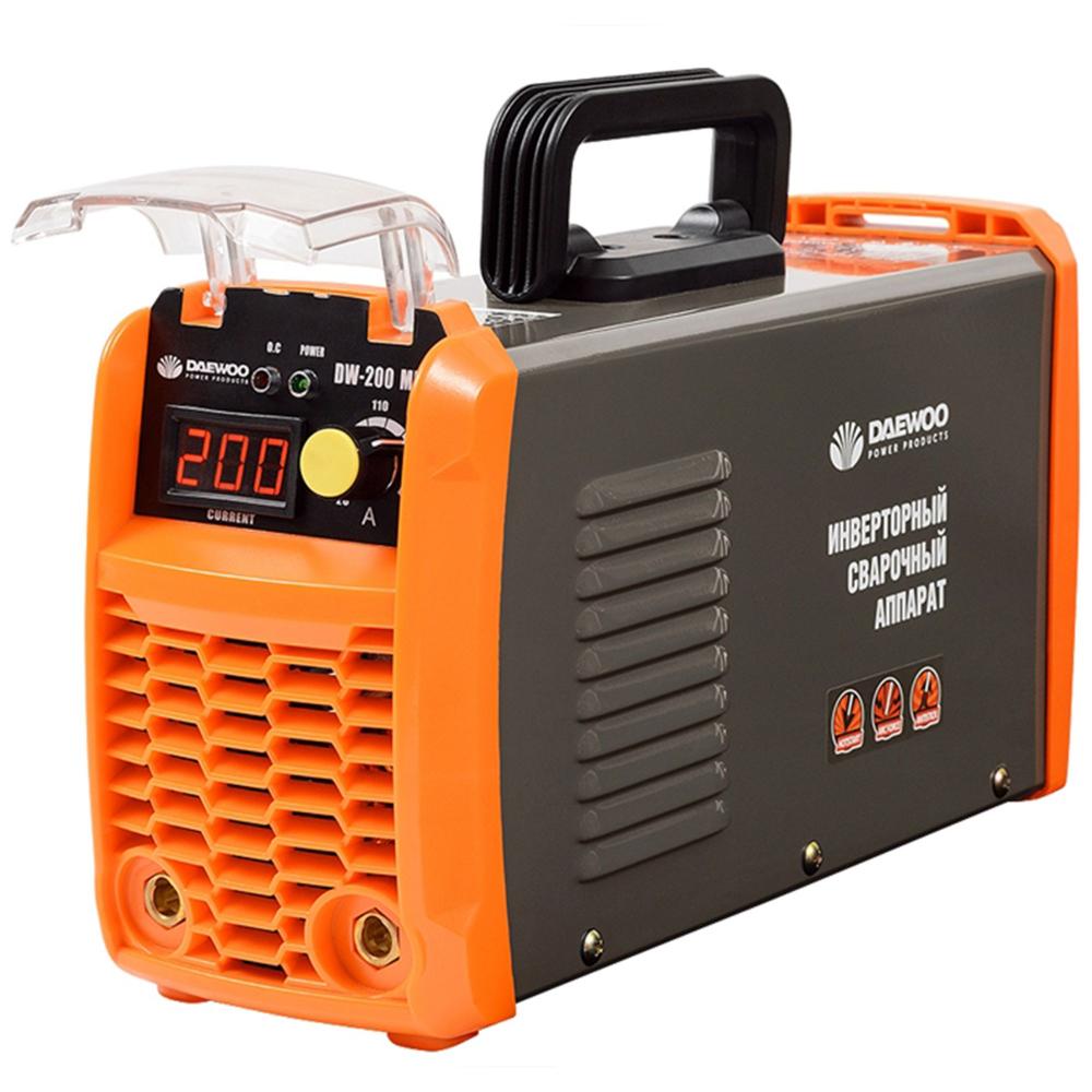 Aparat sudura invertor Daewoo 20-200Ah, 7100W, electrozi 1,6 - 5 mm ,6,3 kg imagine 2021 mathaus