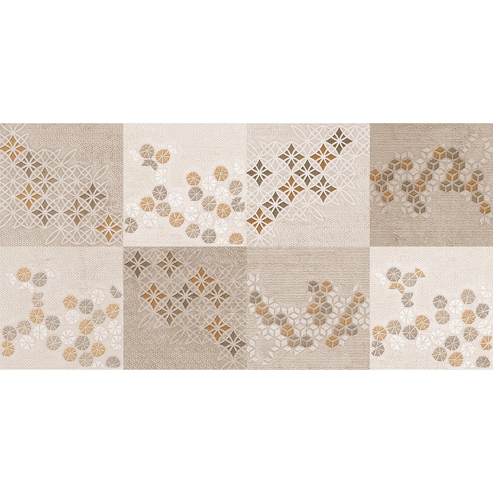 Faianta decorativa Exotica Mirage Marron maro-bej, finisaj estetic, geometric, 30 x 60 cm mathaus 2021