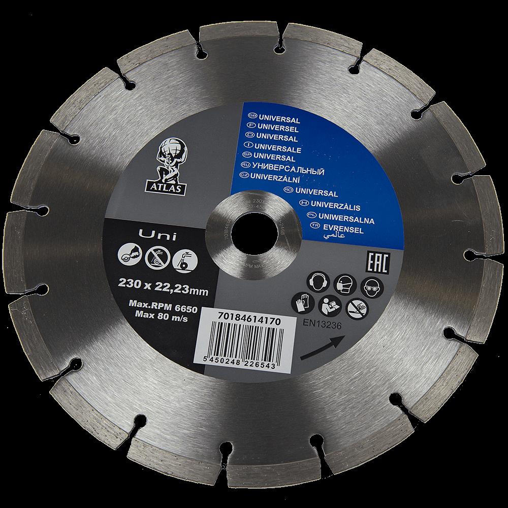 Disc diamantat universal, Atlas, 230 x 22.23 x 2.5 mm imagine 2021 mathaus