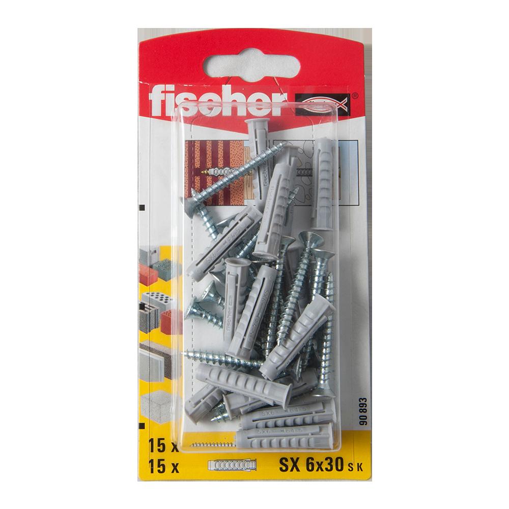 Diblu din nailon cu surub, Fischer SX, 6 x 30 mm, 4,5 x 40 mm, 15 buc mathaus 2021