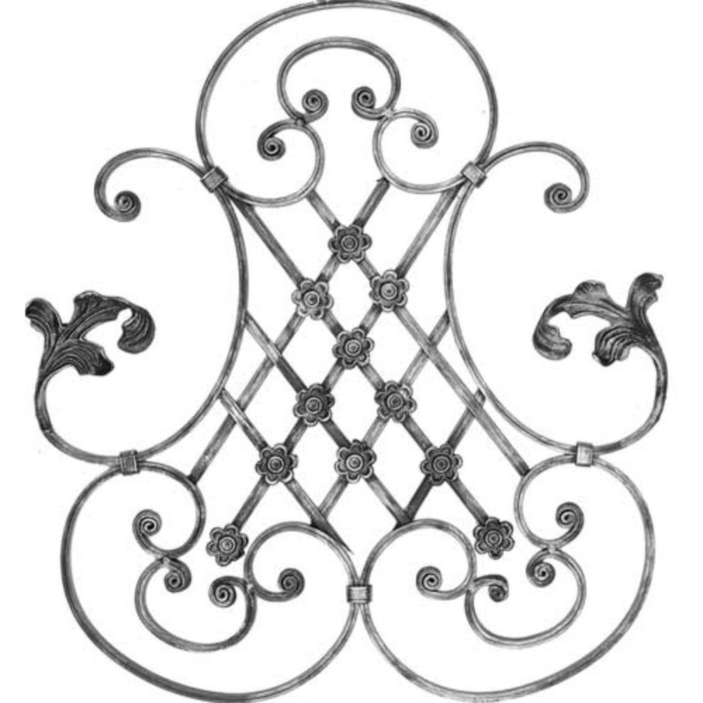 Ornament central, 690 x 550 x 12 x 6 mm